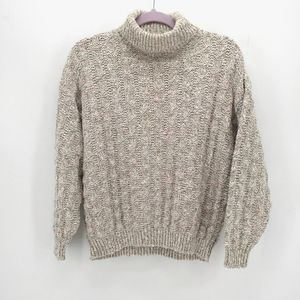 Orvis Vintage Basketweave Knit Turtleneck Sweater
